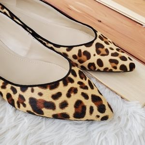 Marc Fisher Natural Alany Leopard Flats